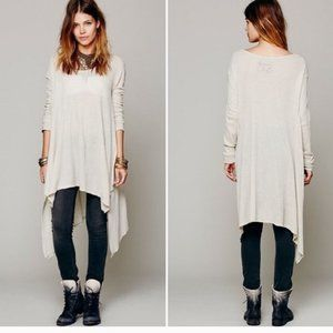 Free People Cream Wonder Woman LS Knit Tunic Top